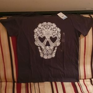 NWT Fifth Sun grey tshirt with skull ...XL
